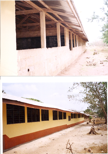 Before and After of the back of the school December 2010