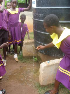 Latrines were built and a water tank was provided with support from the Hilton Foundation to SCEP.