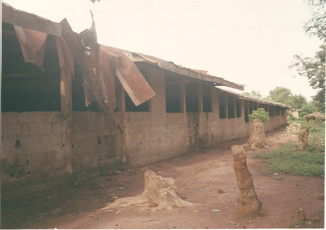 Roof of Primary School before renovation.