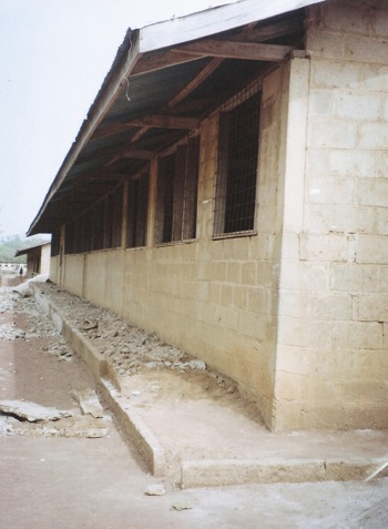 BACK VIEW OF SAMPA RC JUNIOR HIGH SCHOOL -BLOCK A (BEFORE RENOVATION)